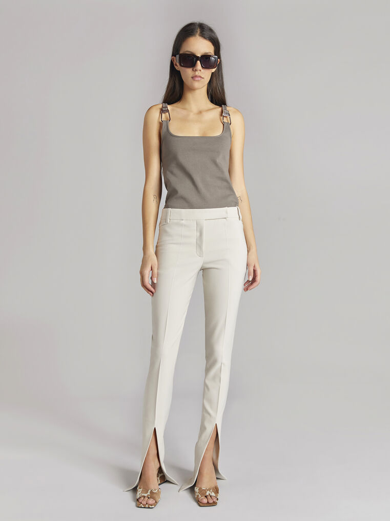 """THE ATTICO """"Beca"""" taupe tank top 1"""