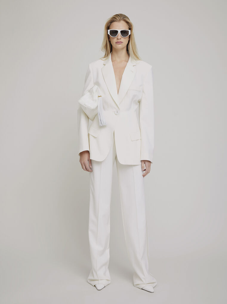 The Attico White wool pants 1