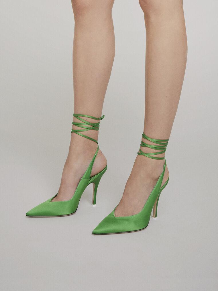 """The Attico """"Venus"""" green slingback 1"""