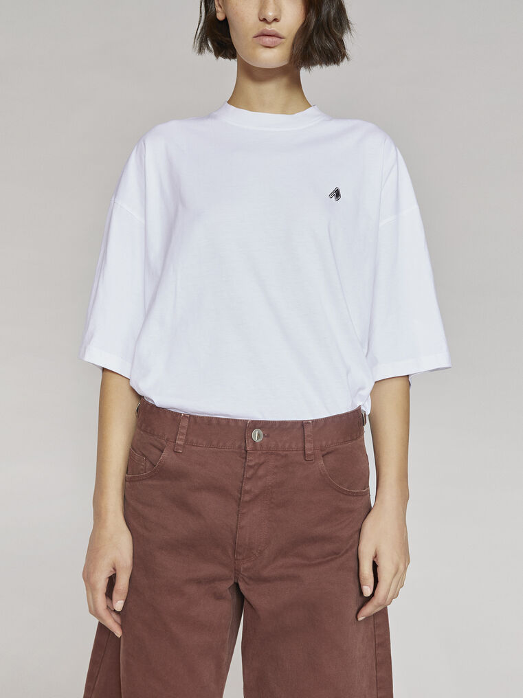 "THE ATTICO ""Cara"" white t-shirt 2"