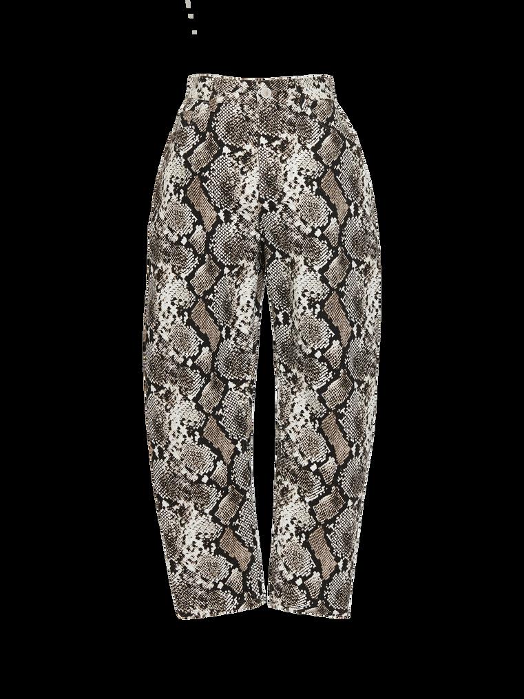 "The Attico ""Dua"" python-printed pants 4"