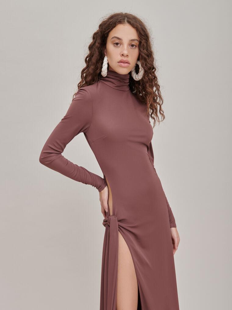 """The Attico """"Camille"""" brown knotted midi dress 3"""