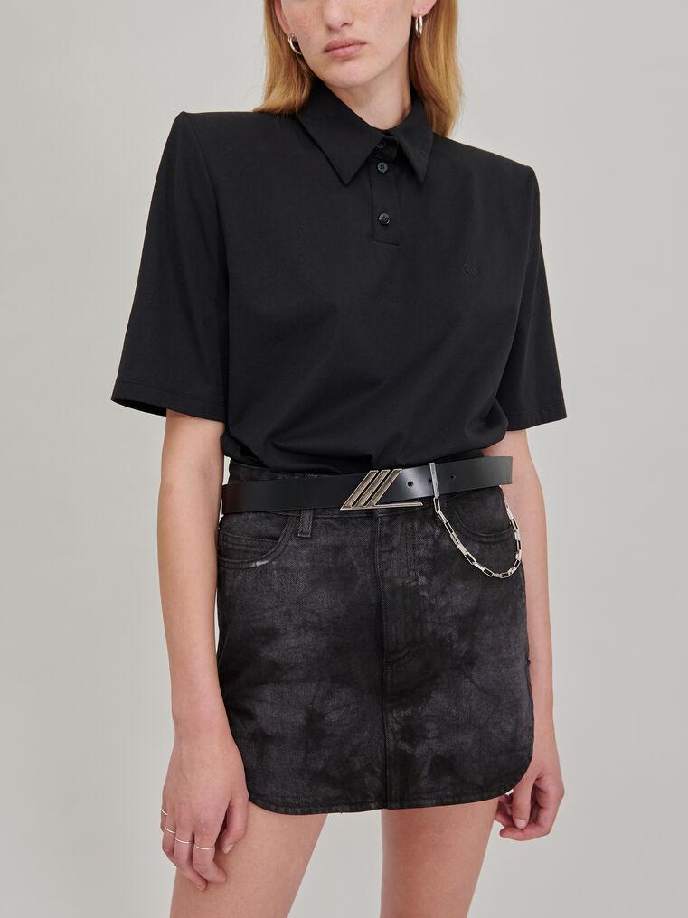 The Attico Black tie dye mini skirt with rounded hem 2