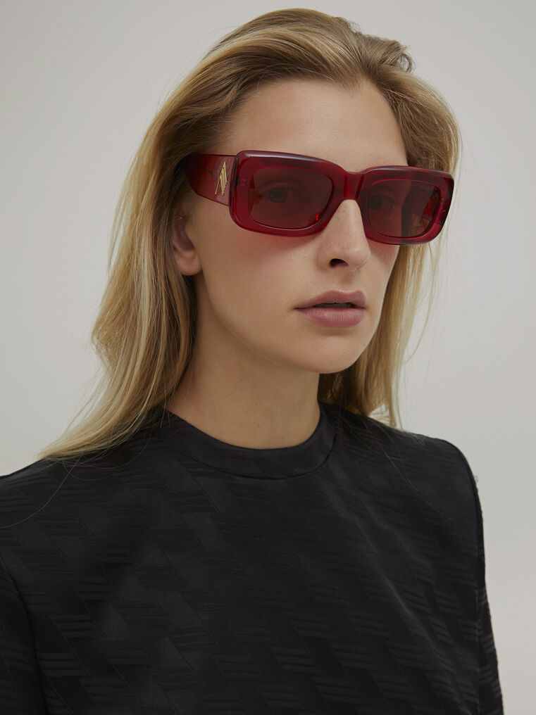 "The Attico ""Marfa"" red sunglasses 1"