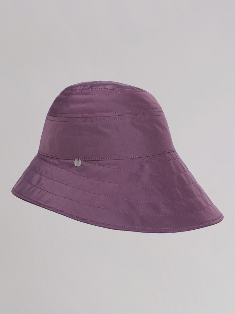 "THE ATTICO ""Dylan"" mauve bucket hat 1"