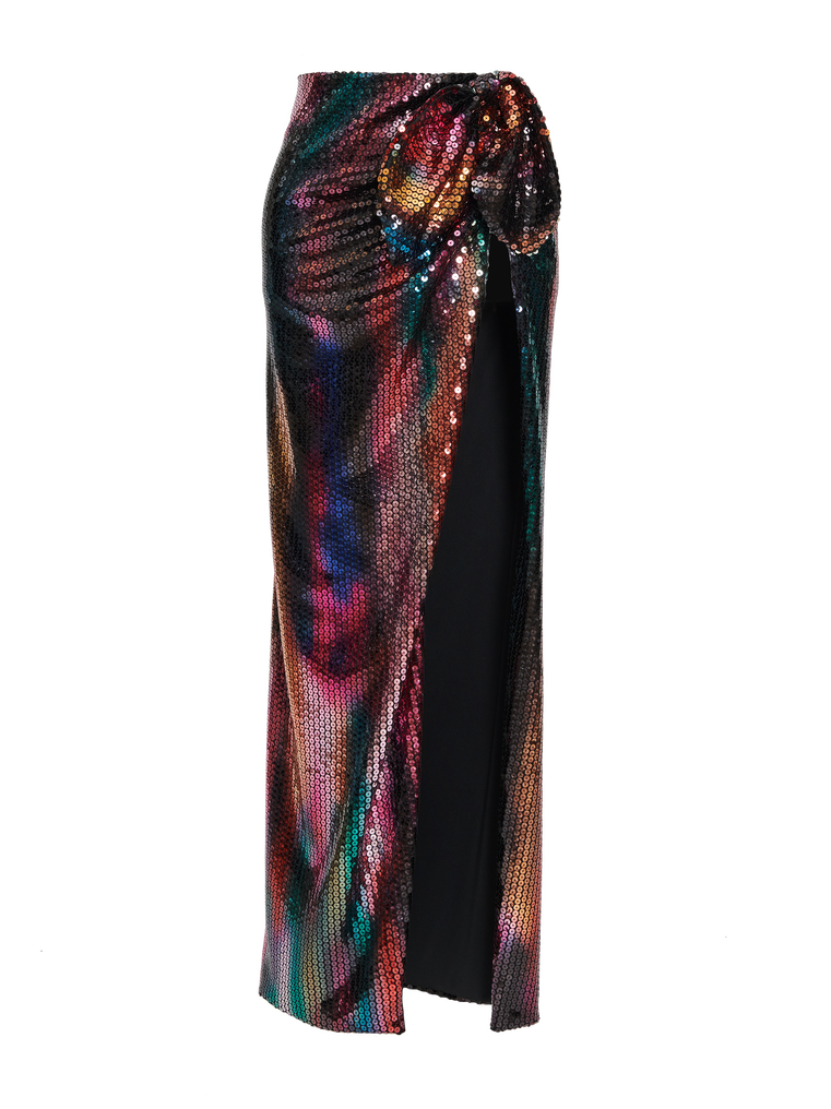 "The Attico ""Joanna"" multicolor long skirt 4"