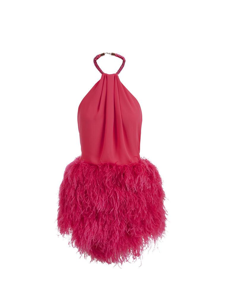 THE ATTICO ''Rose'' strawberry mini dress 5
