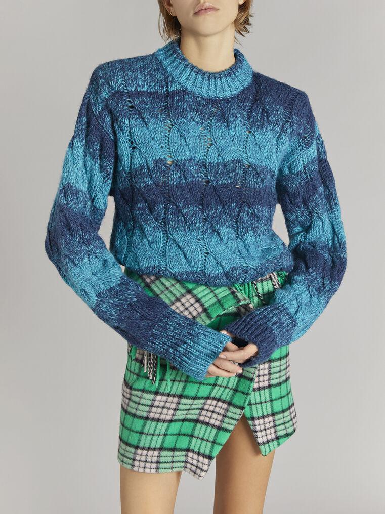 "THE ATTICO ""Kenna"" turquoise melange pullover 2"