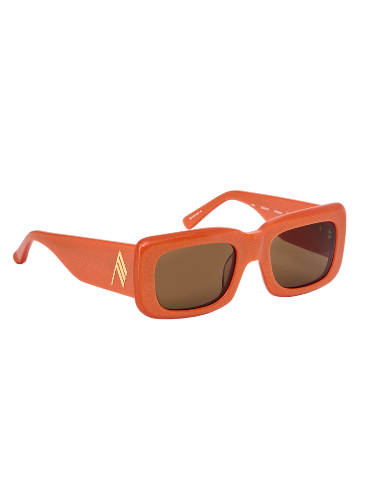 "The Attico ""Marfa"" orange sunglasses 2"
