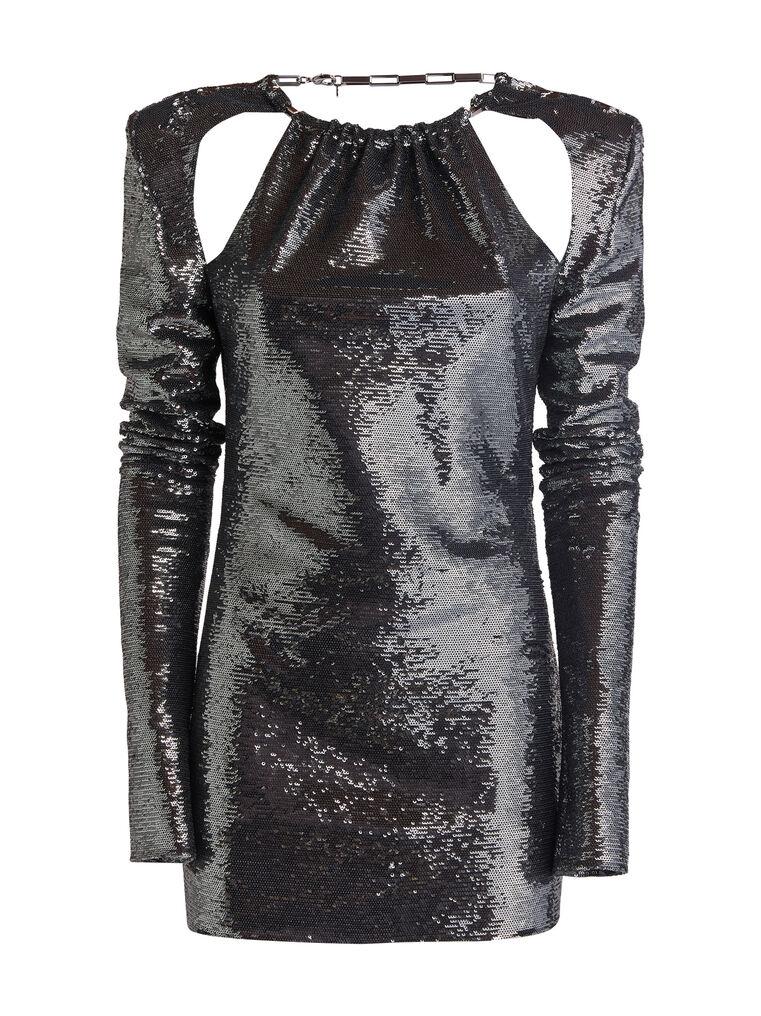 """THE ATTICO """"Elena"""" charchoal mini dress 4"""