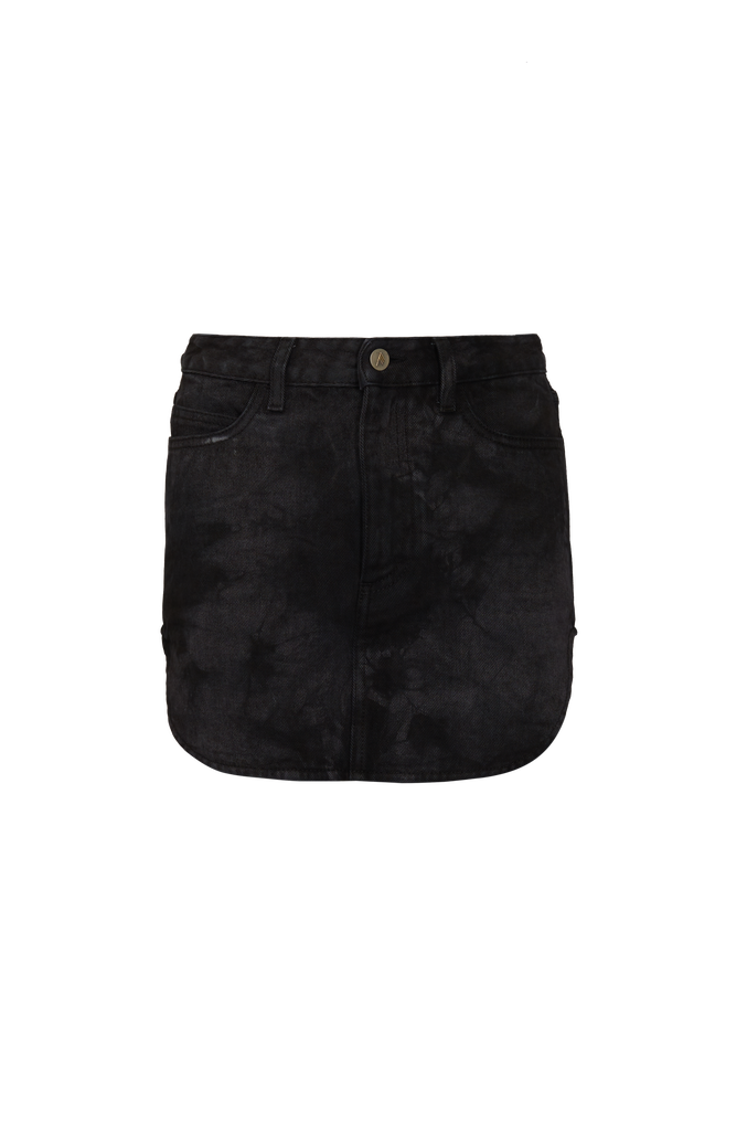 The Attico Mini skirt with rounded hem 4