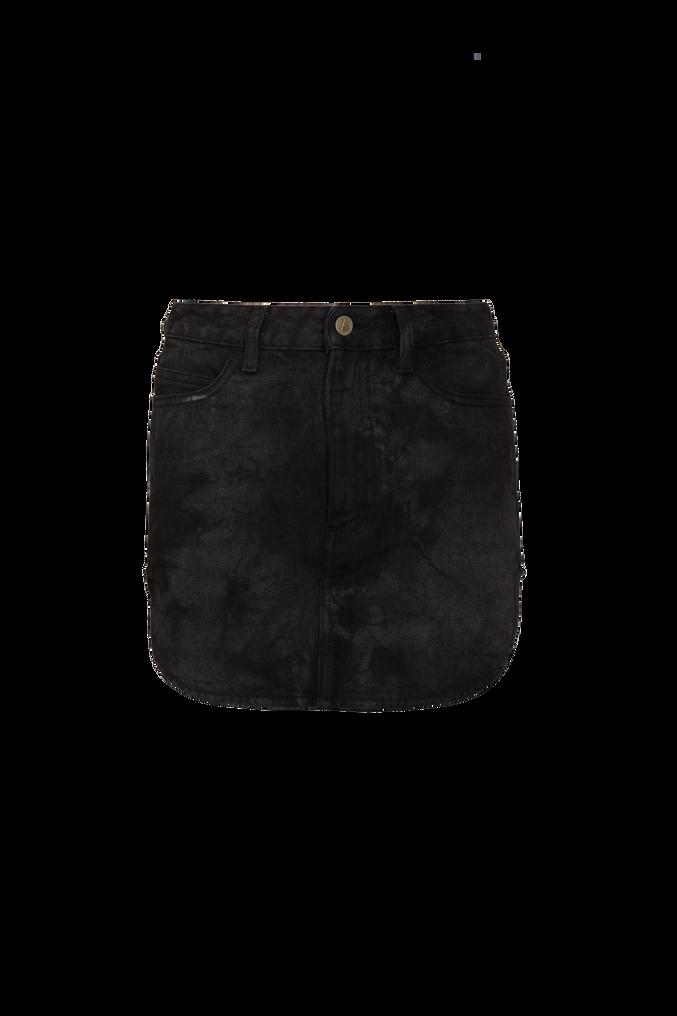 The Attico Black tie dye mini skirt with rounded hem 4