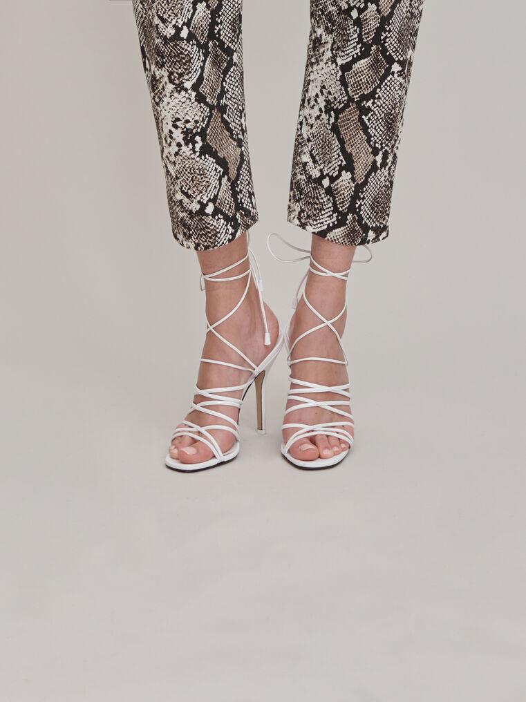 """The Attico """"Fiona"""" white sandal 1"""