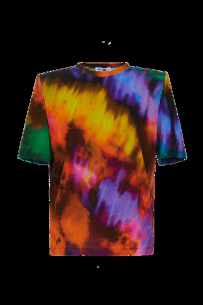 "The Attico ""Bella"" multicolor t-shirt with shoulder pads 4"