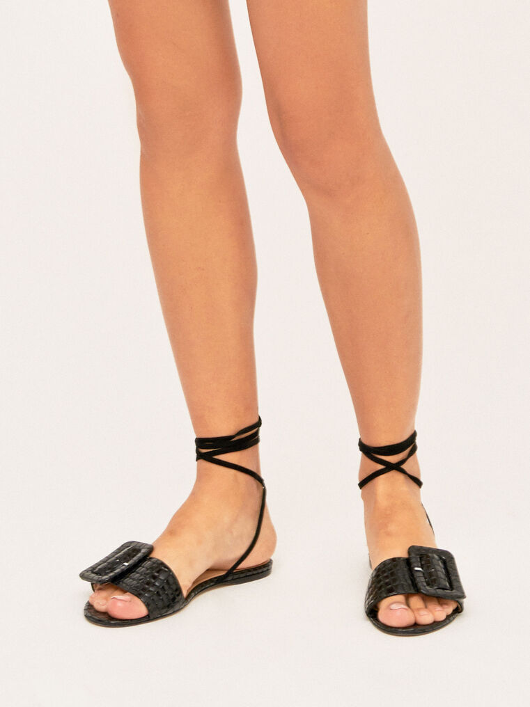 The Attico Flat Sandal With Buckle 2