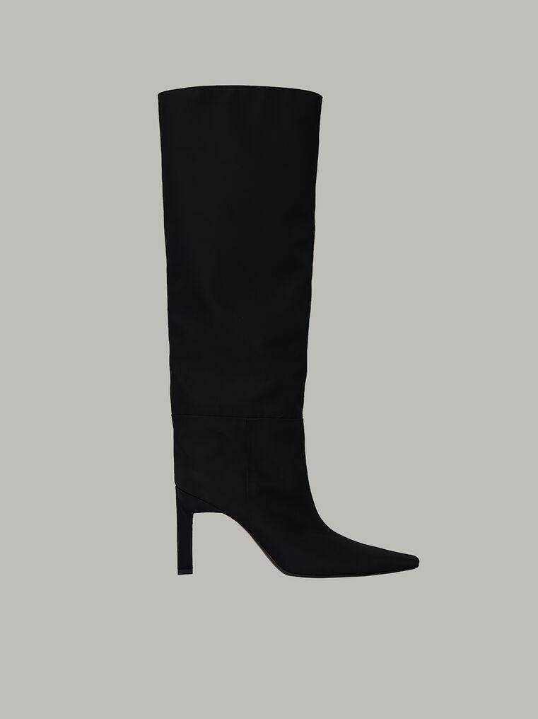 """The Attico """"Vitto 85"""" black nylon  tube boot 2"""