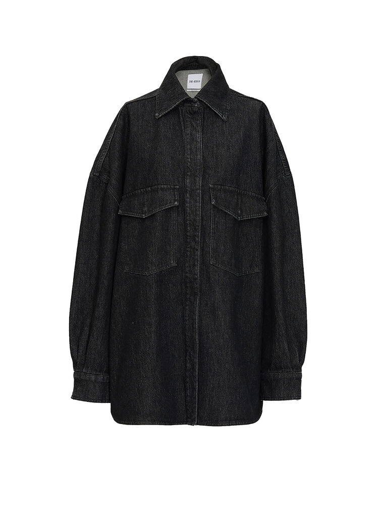 The Attico Black denim shirt 4