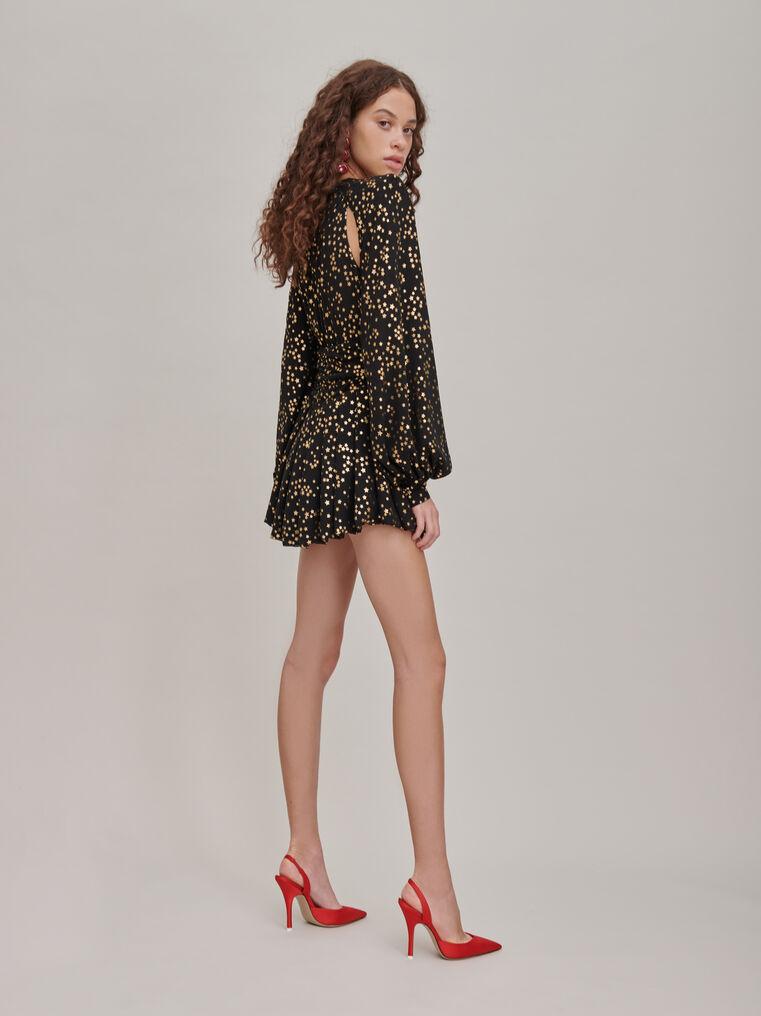 The Attico Black and gold mini dress 2