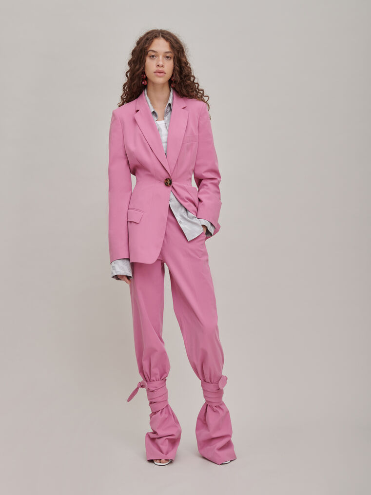 """The Attico """"Donna"""" orchid pink pants 1"""