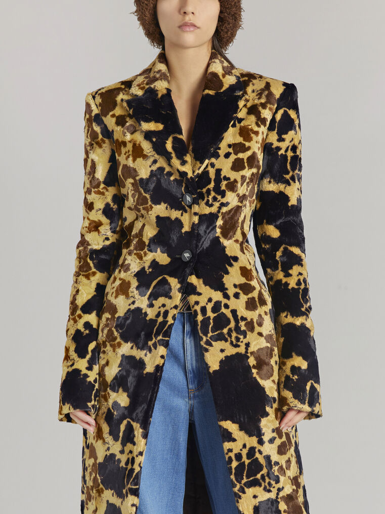 """THE ATTICO """"Milla"""" cow printed fitted coat 2"""