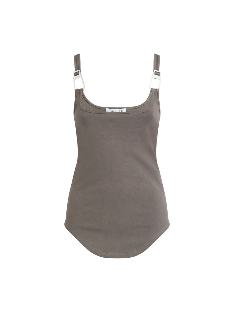 """THE ATTICO """"Beca"""" taupe tank top 4"""