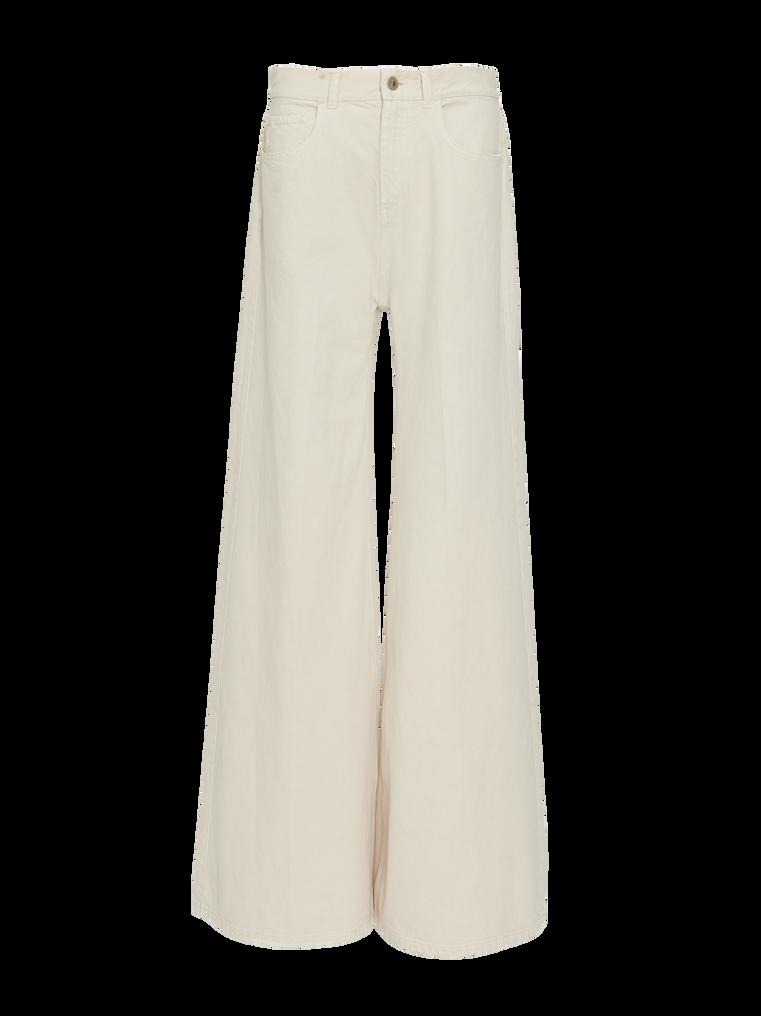 "The Attico ""Mica"" white denim pants 4"