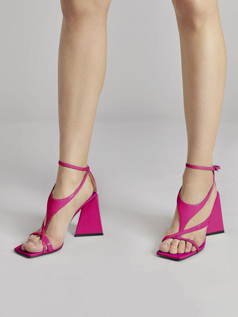 """THE ATTICO """"Atena"""" fuchsia sandal 1"""