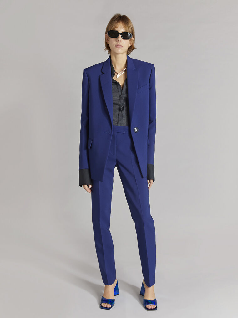 THE ATTICO ''Twiggy'' blue navy skinny pant 1