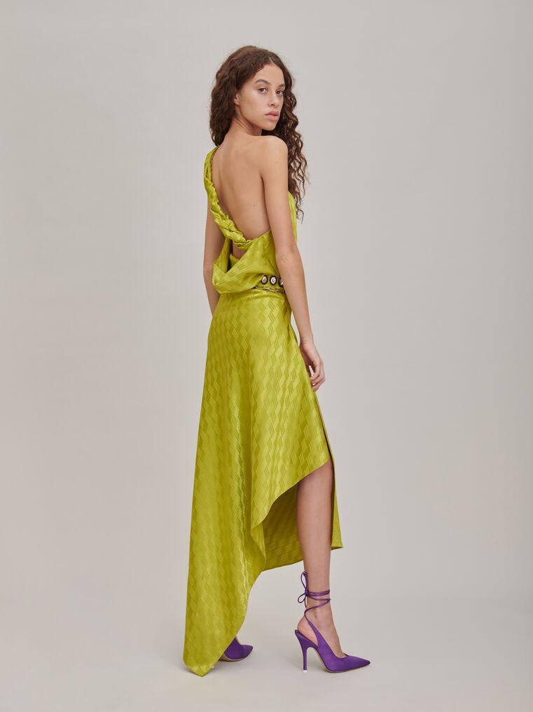 """The Attico """"Bea"""" monogram pistache midi dress 2"""