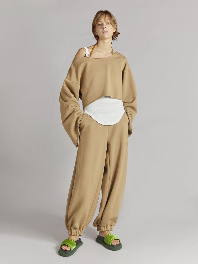 THE ATTICO Camel sweatshirt 1