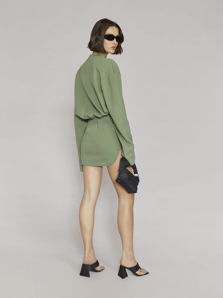 """THE ATTICO """"Palmer"""" olivine mini dress 3"""