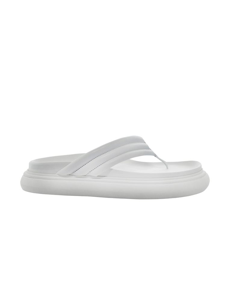 "THE ATTICO White ""Alton"" flat thong 4"