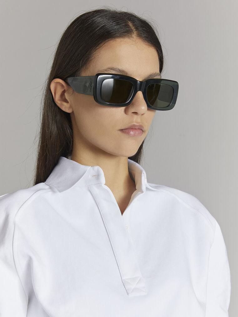 """THE ATTICO """"Marfa"""" military green sunglasses 2"""