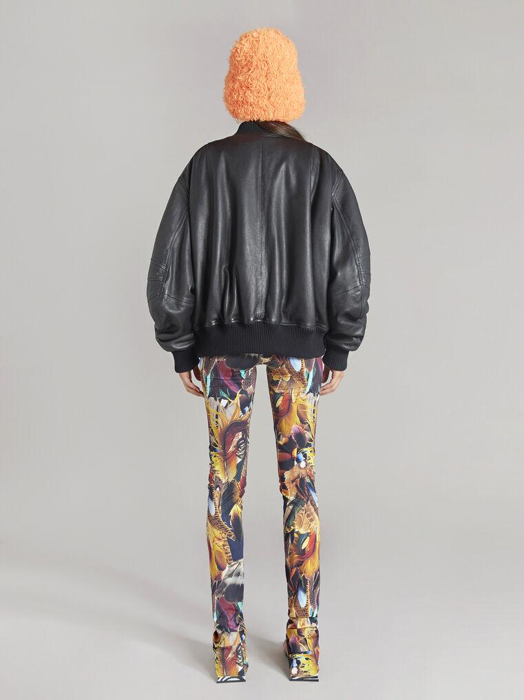 THE ATTICO Multicolor feathers printed leggings 3