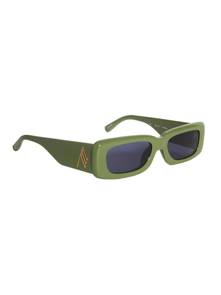 "THE ATTICO ""Mini Marfa"" olive sunglasses 3"
