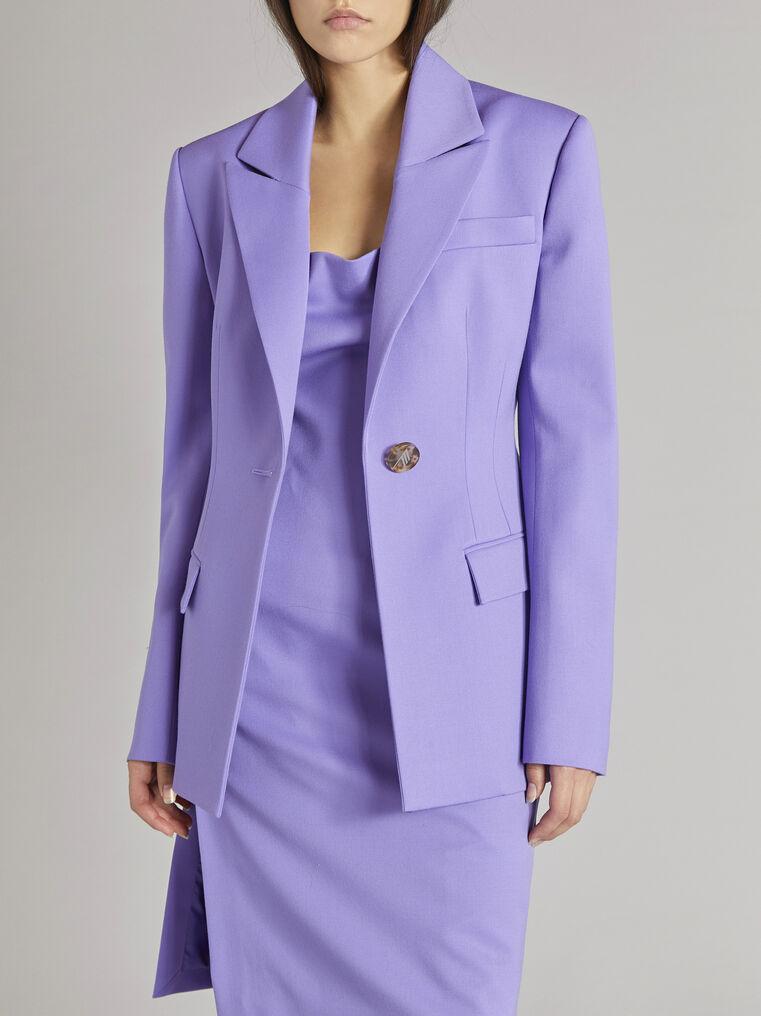 "THE ATTICO ""Blue"" lilac clessidra jacket 2"