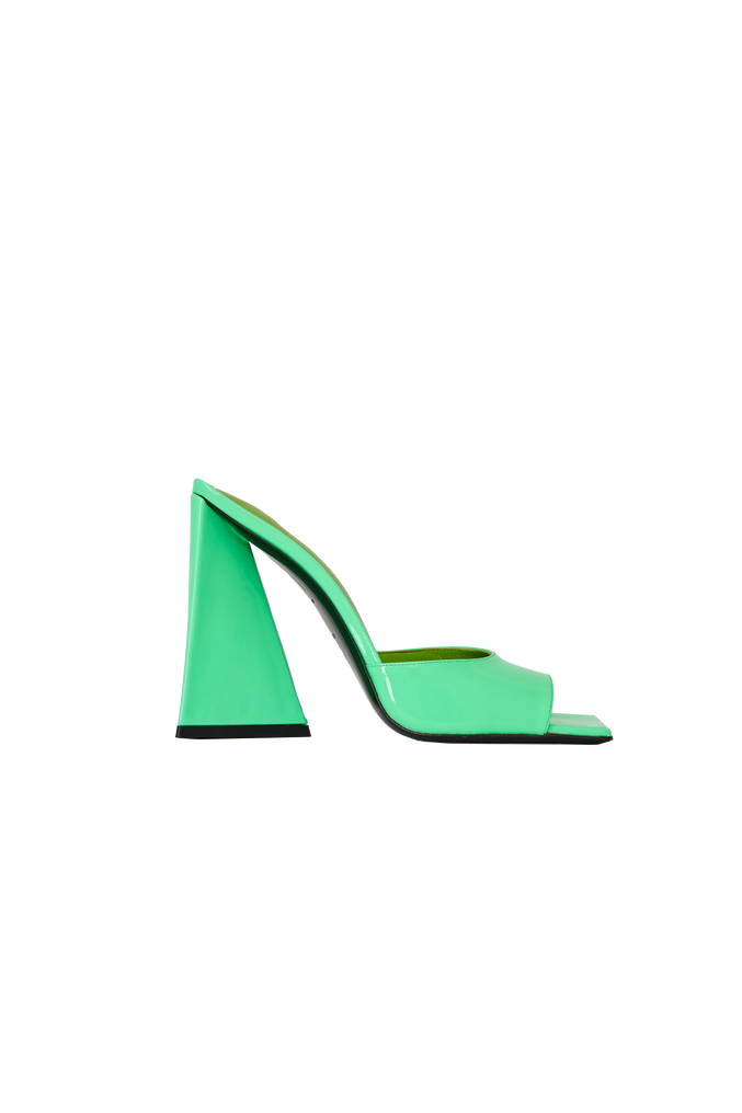 "The Attico ""Devon"" neon green mule 4"