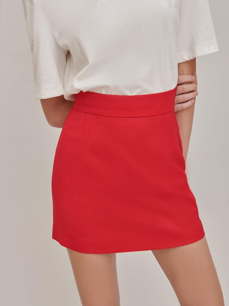 The Attico Red mini skirt 1