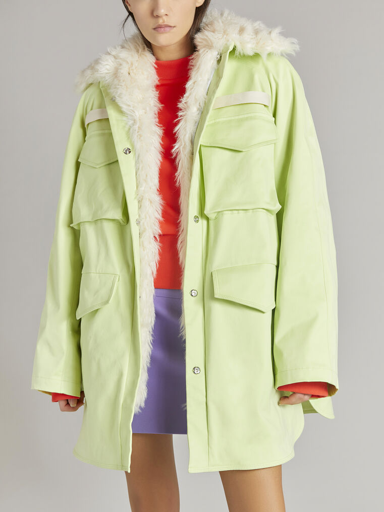 """THE ATTICO """"Janet"""" pale yellow field jacket 2"""