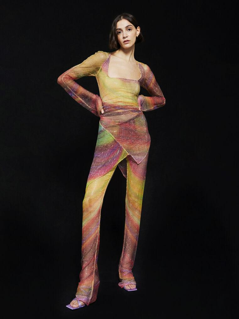 THE ATTICO ''Anemone'' multicolor mini dress 4