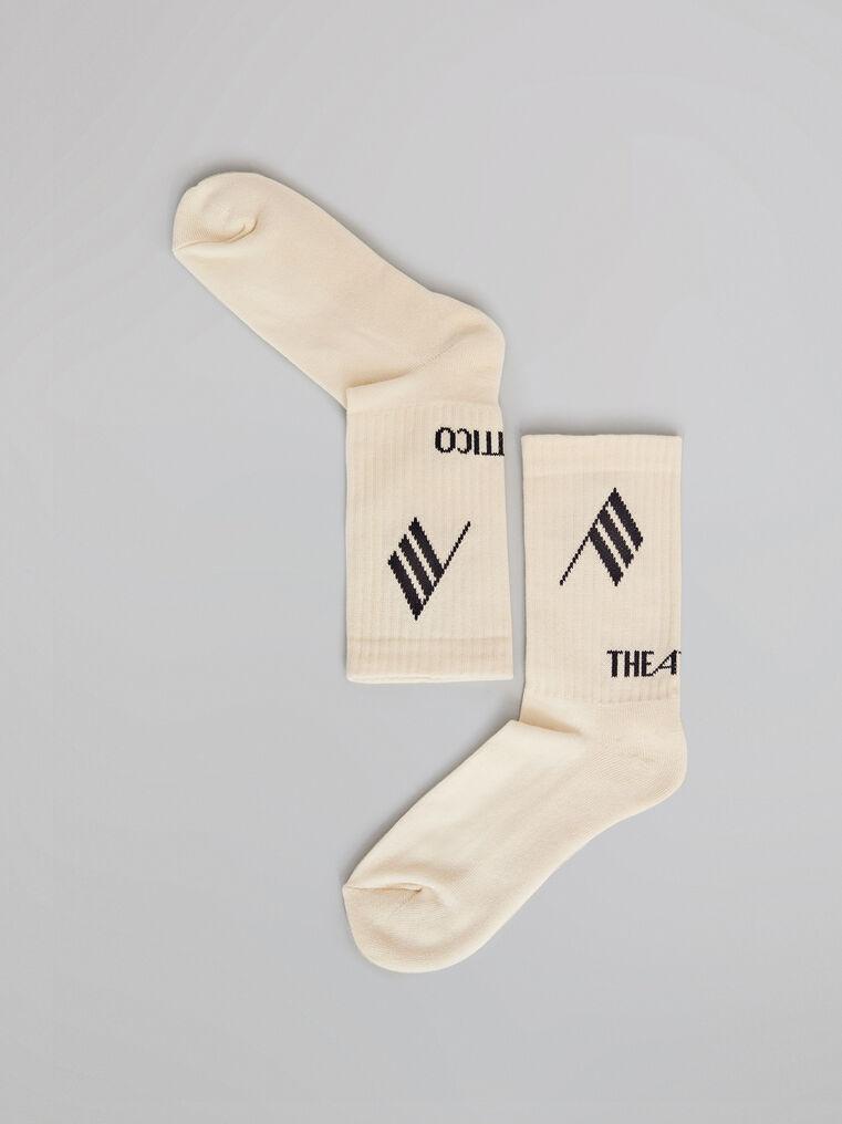 THE ATTICO Sahara bicolor sponge short socks 2