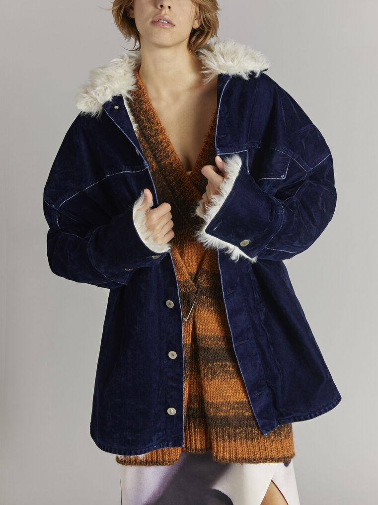 THE ATTICO ''Janet'' midnight blue coat 2