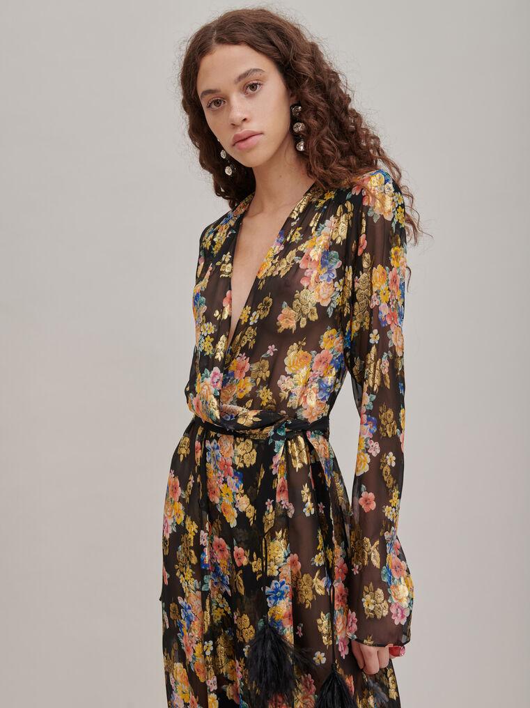 "The Attico ""Lauren"" floral prinded long dress 3"