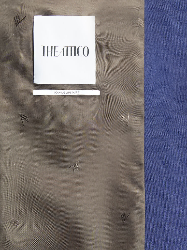"THE ATTICO ""Bianca"" blue navy blazer jacket 4"