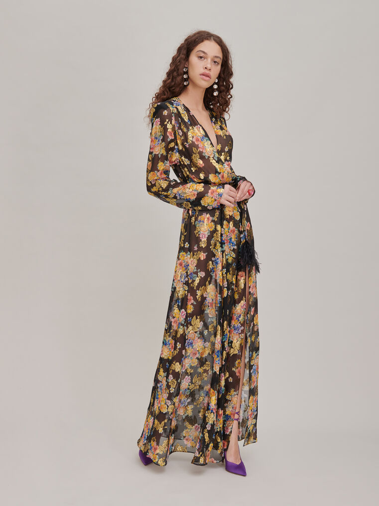 "The Attico ""Lauren"" floral prinded long dress 1"