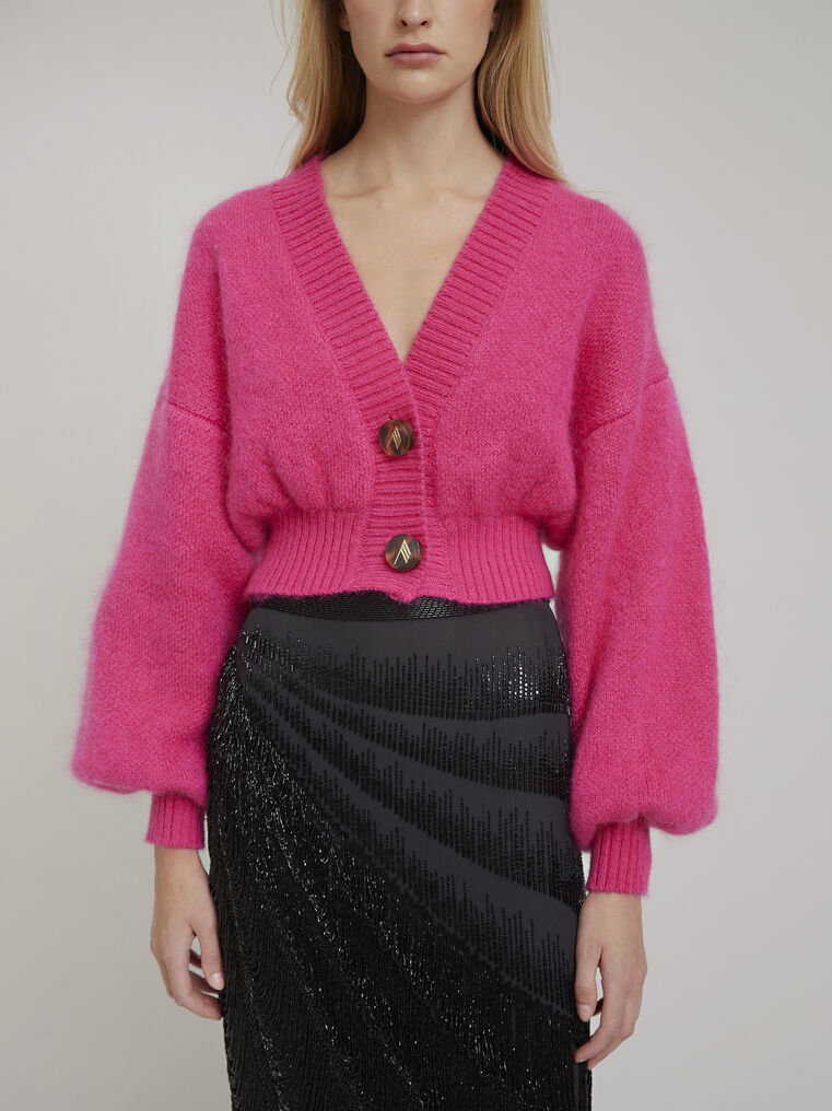 The Attico Pink mohair sweater 2