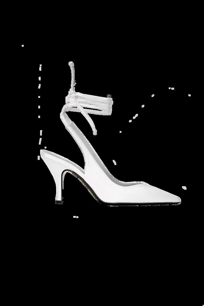 "The Attico White nappa leather ""Venus"" slingback, heel height 85mm 4"