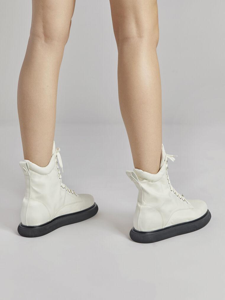 """THE ATTICO """"Selene"""" milk boots 3"""