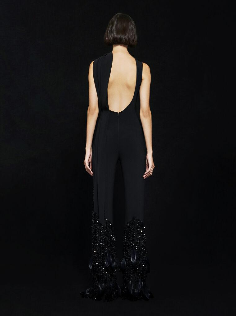 THE ATTICO ''Lotus'' black overall 2