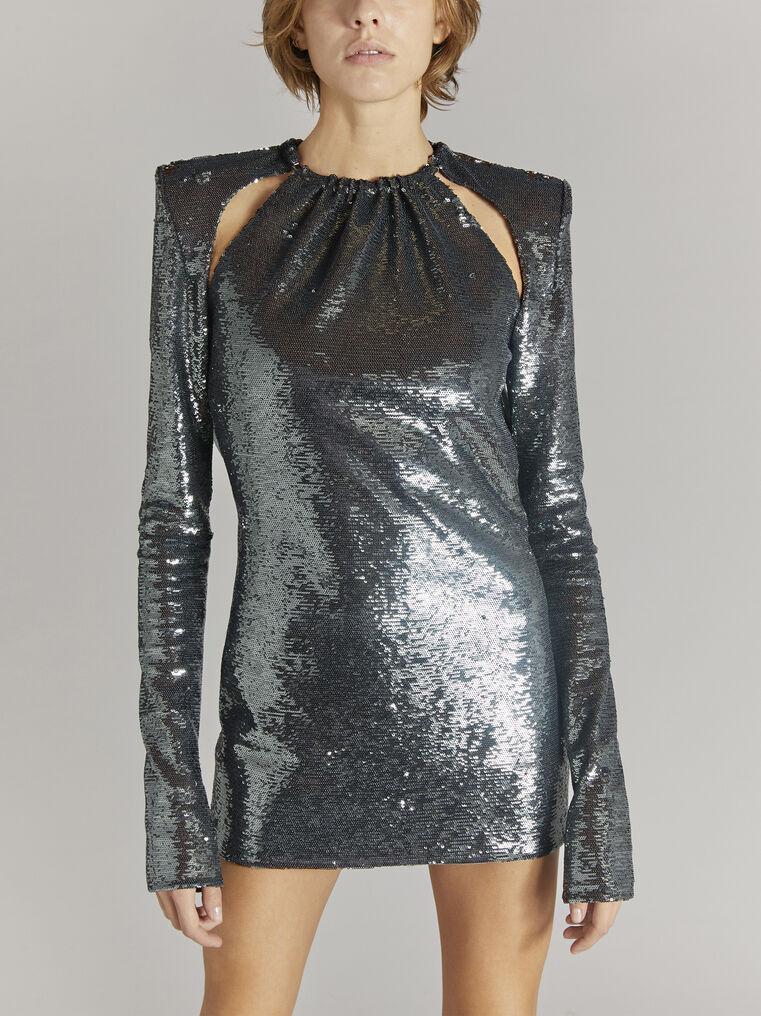 """THE ATTICO """"Elena"""" charchoal mini dress 2"""